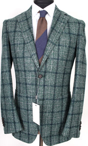 New Suitsupply Havana Green Check 80% Alpaca Blazer - Size 38R