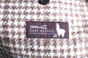 New Suitsupply Havana Brown Houndstooth Check 40% Alpaca Blazer - Size 38R