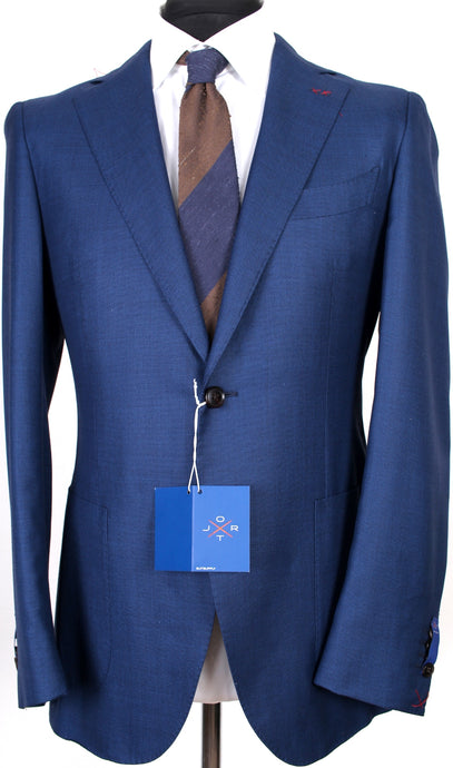 New Suitsupply JORT Blue Birdseye Super 150s Wool and Silk Blazer - Size 38R