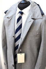 Load image into Gallery viewer, NWT SUITSUPPLY RIVINGTON Light Gray Wool Blend Raincoat - Size 38R