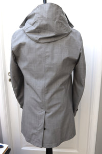 NWT SUITSUPPLY RIVINGTON Light Gray Wool Blend Raincoat - Size 38R