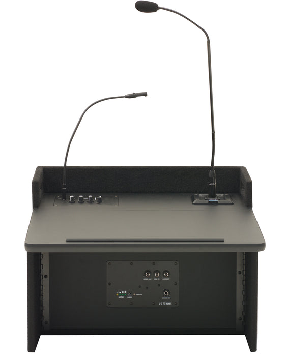 ACL2-U2 | Acclaim tabletop lectern with built-in dual wireless mic receiver