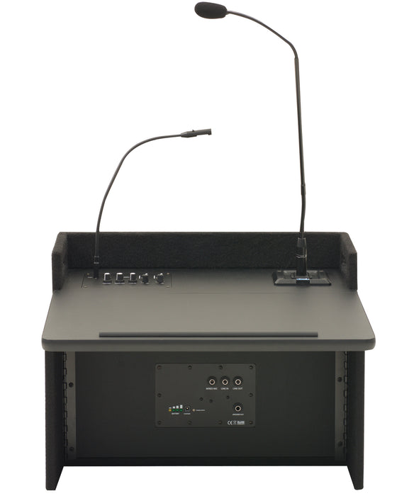 ACL2-U4 | Acclaim tabletop lectern with two built-in dual wireless mic receivers