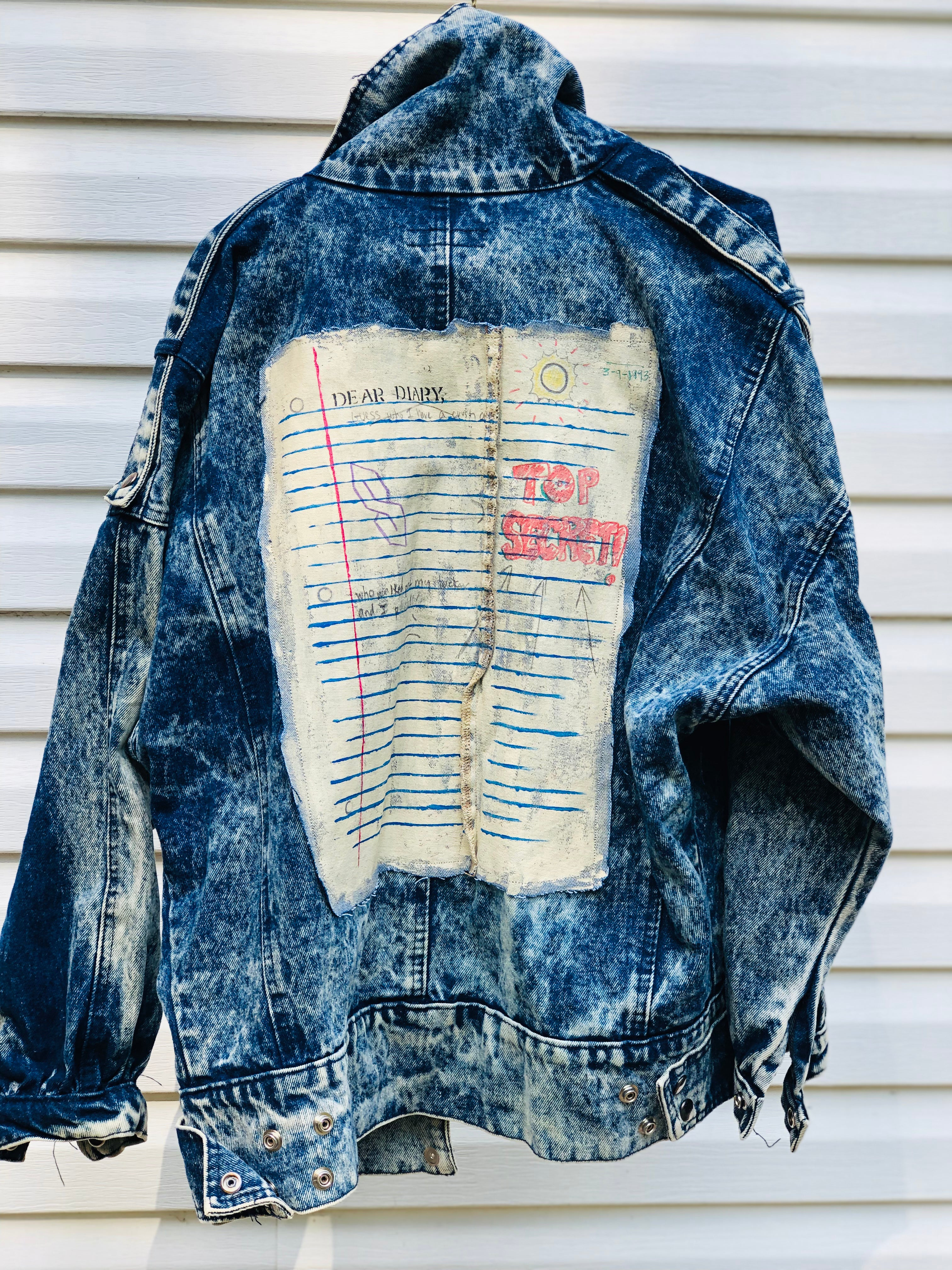 'Top Secret Notebook' Vintage Furrina Denim Jacket