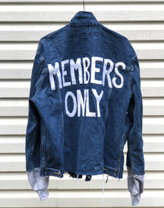 'Members Only' Pre-Owned Marithe Francois Girbaud Denim Jacket