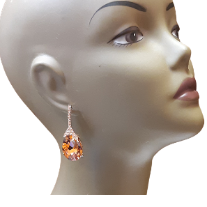 Cognac Drop Earrings