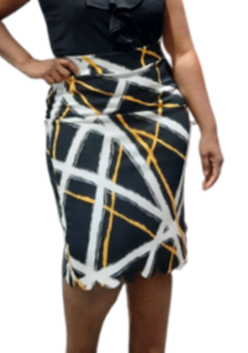 Electric Scallop Over The Knee Skirt