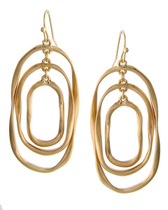 VB043-Triple Oval Earrings
