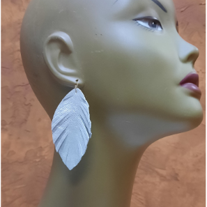 Leather Feathers Earrings