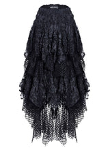 Load image into Gallery viewer, Dark In Love Black Mesh Layered Skirt