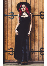 Load image into Gallery viewer, Necessary Evil Venus Long Black Velvet Dress