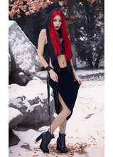 Load image into Gallery viewer, Necessary Evil Aura Velvet Maxi Skirt
