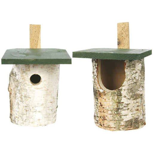 Nest Boxes Birch Log Nest Boxes