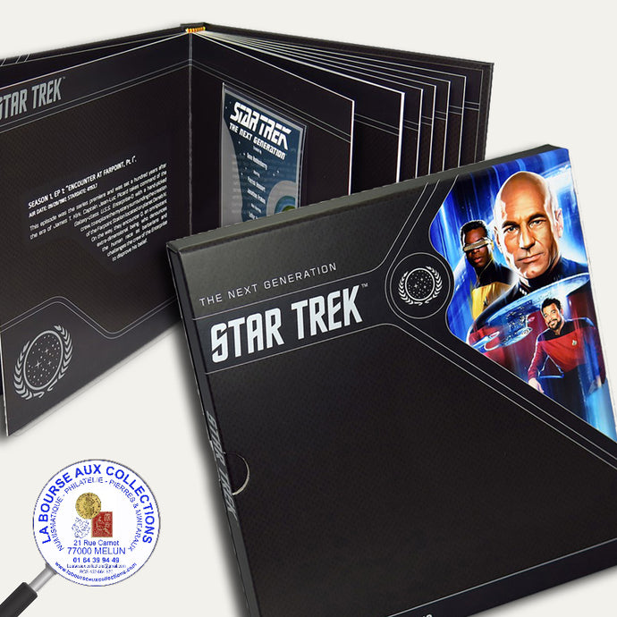 2018 - Album complet 7 Billets - 1 Dollar 5,00g Argent 999 ‰- Star Trek : The Next Generation