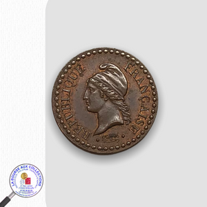 IIè REPUBLIQUE (1848/1852)  UN CENTIMES Type Dupré – 1849 A - Paris / La Bourse aux Collections Numismate Melun
