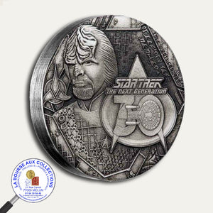2017 - 2 Dollars  - 2 once Argent 999 ‰ - Star Trek The next génération /Lieutenant commandant Worf