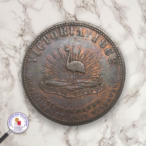 AUTRALIE - 1 PENNY TOKEN Robison Bros. & Co, Victoria Copper Works, Melbourne, 1862 / La Bourse aux Collections Numismate Melun