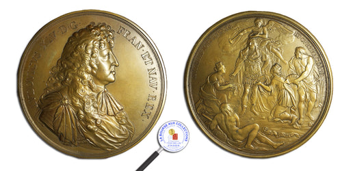 LOUIS XIV - Médaille CAPTURE DE TOURNAI  ET COURTRAI – 1667 / La Bourse aux Collections Numismate Melun
