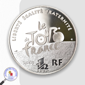 FRANCE - 1 euro 1/2 2003 argent BE – Centenaire du Tour de France