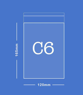 SAMPLE - C6 Envelope Size (120mm x 165mm)