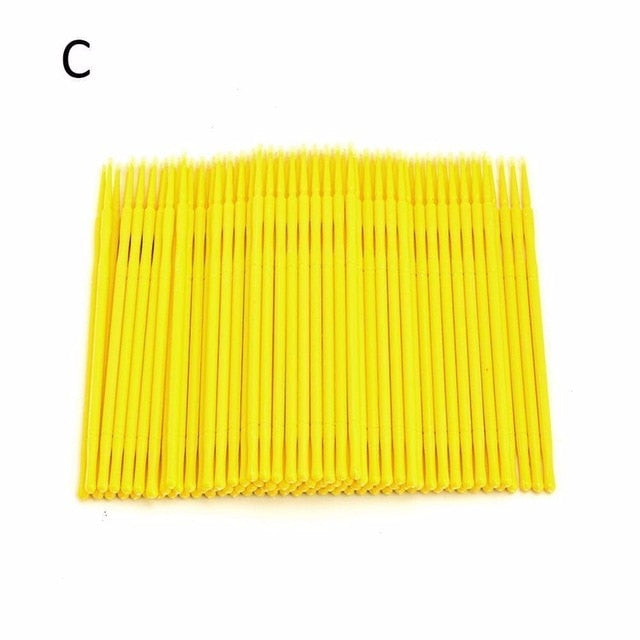100 Pcs Eyelash Brushes