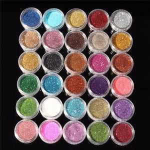 30 Colors Glitter Eye Shadow Shimmer Powder