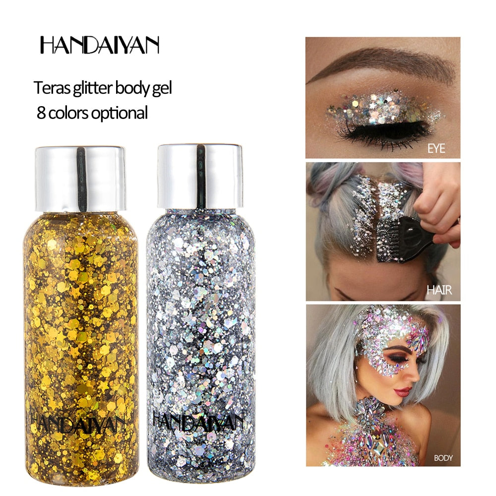 NEW 8 Colors Metal Eye Shadow Laser Sequins