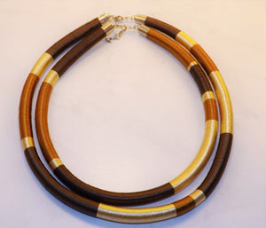 Statement Necklace Set Earth Tones