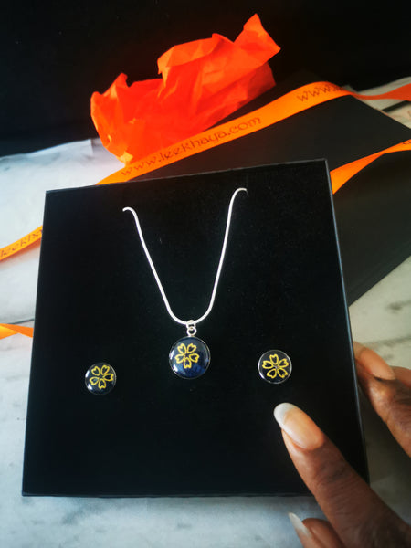 Kayla Set 1 (earrings and necklace)