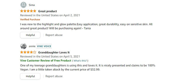 amazon reviews ms glamour products