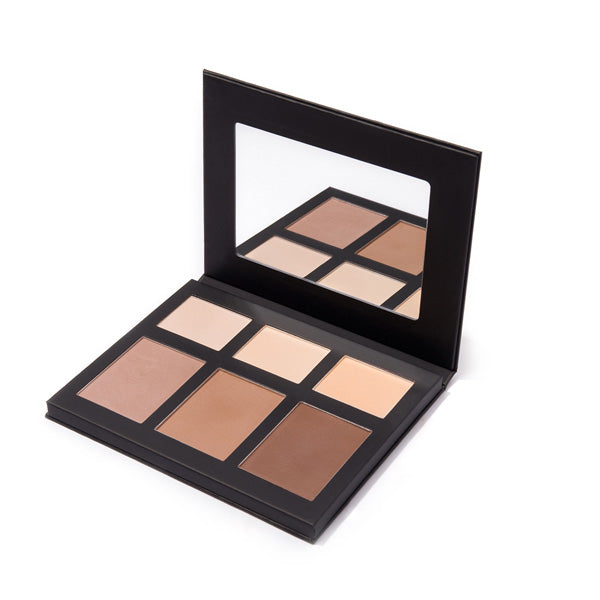 Image of MS Glamour Highlight and Contour Palette Case and Mirror