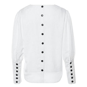 Reverse Buttons Blouse