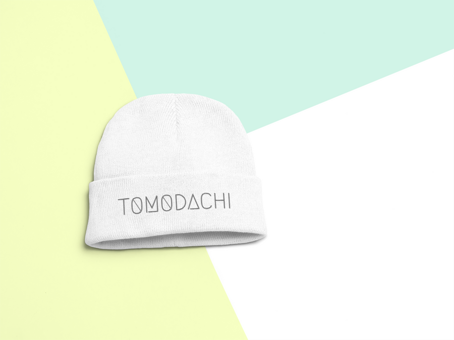 Tomodachi White TOMODACHI Beanie Tomodachi Clothing Streetwear