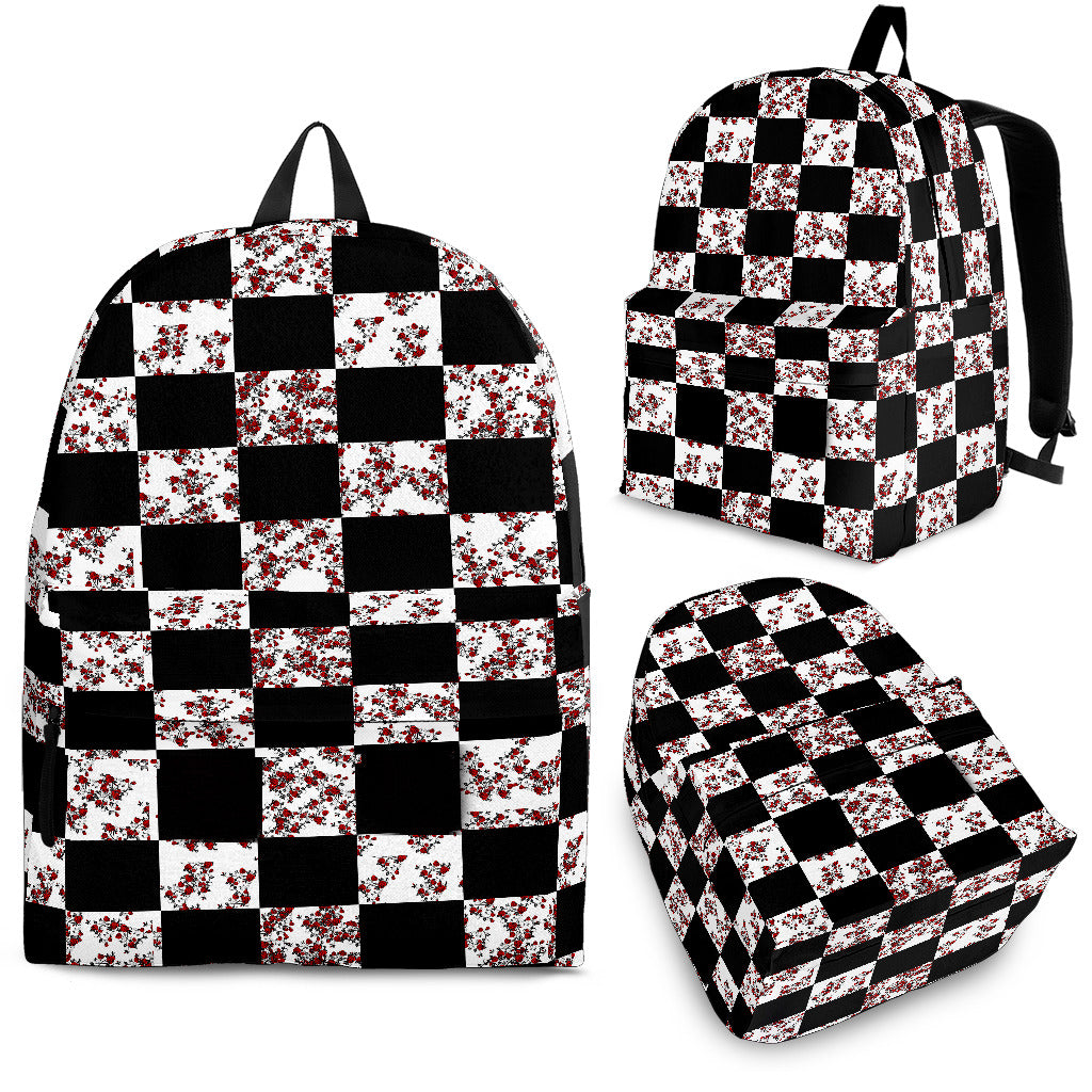 Rose Checker Back Pack