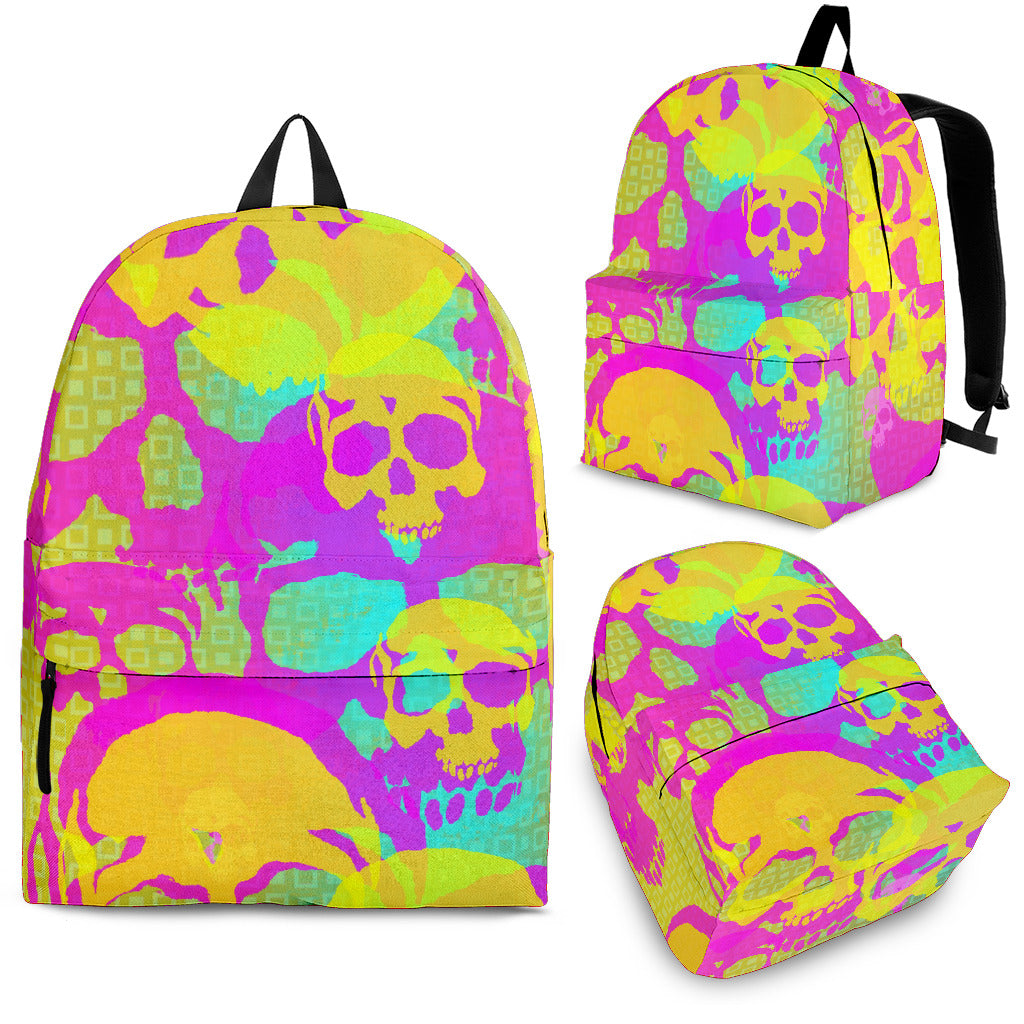 Yellow skulls backpacks