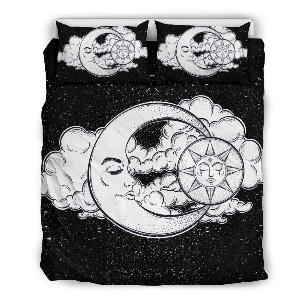 Bedding Set / Twin Sun and Moon Galaxy Bedding Set