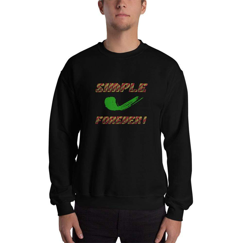 "Black / S ""Simple forever"" Sweatshirt 01"