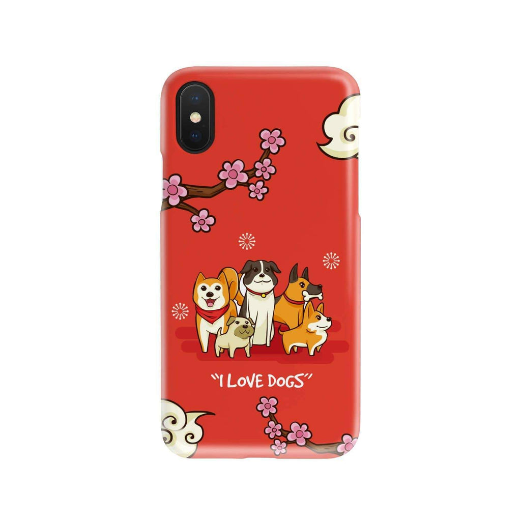 "Phone Case ""I Love Dogs"" phone Case"