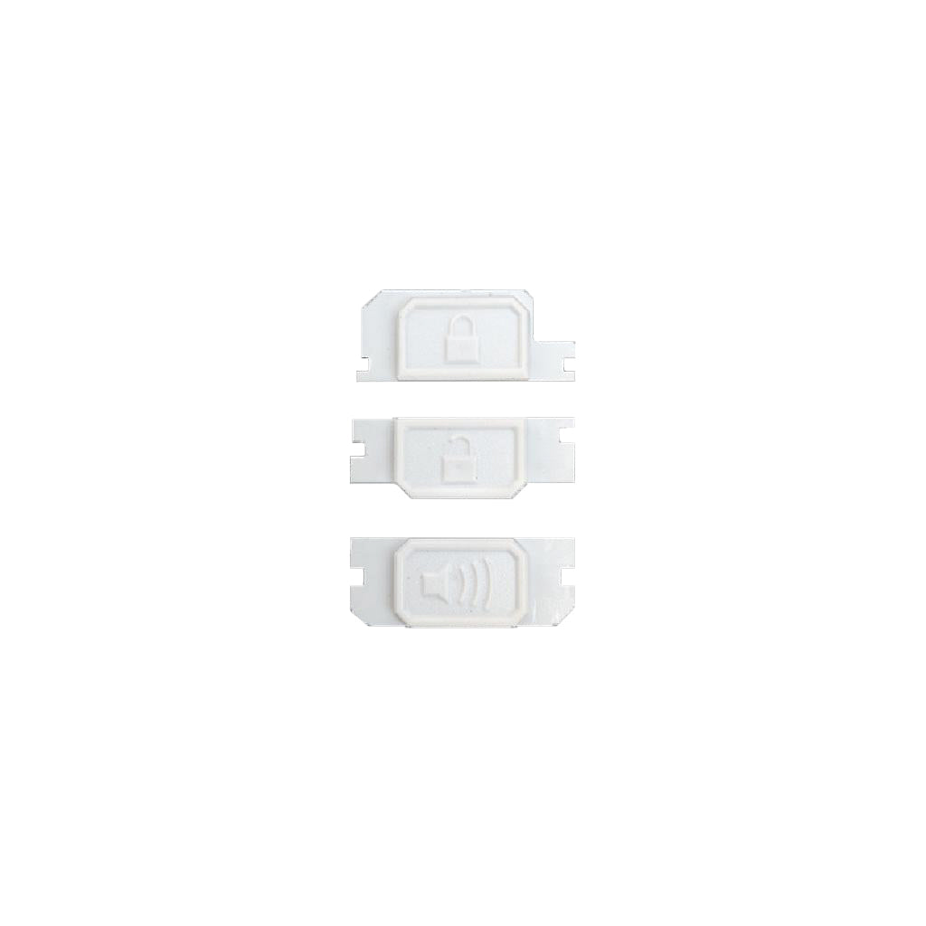 Minimalist Fob Buttons - White