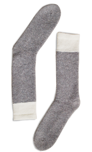 CHAUSSETTES THERMALES - LAINE PURE GRIS