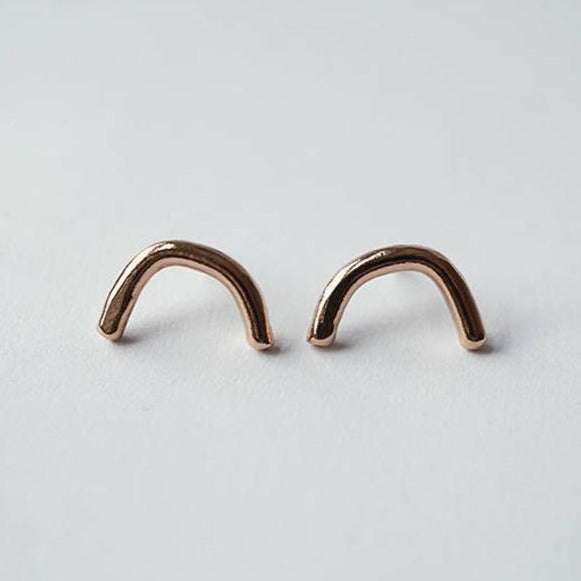 BOUCLES D'OREILLES SMALL SMILE - BRONZE