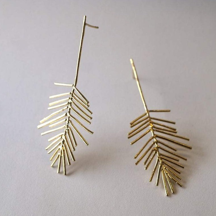 BOUCLES D'OREILLES LEAVES - OR JAUNE