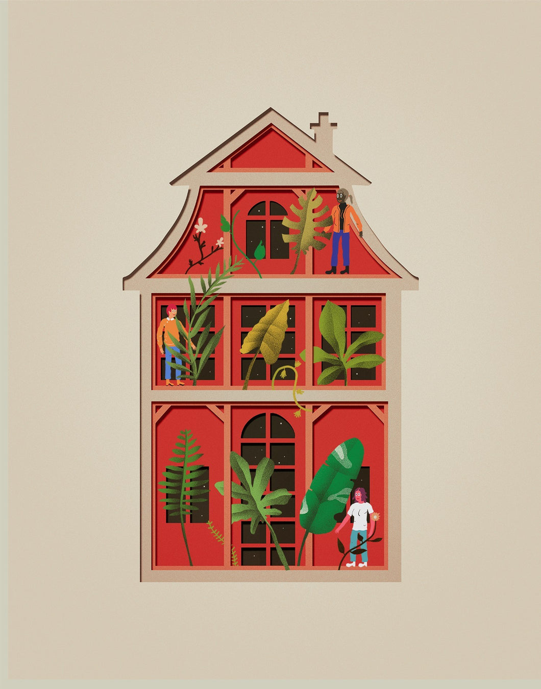 MAISON DE PAPIER 2 - ILLUSTRATION