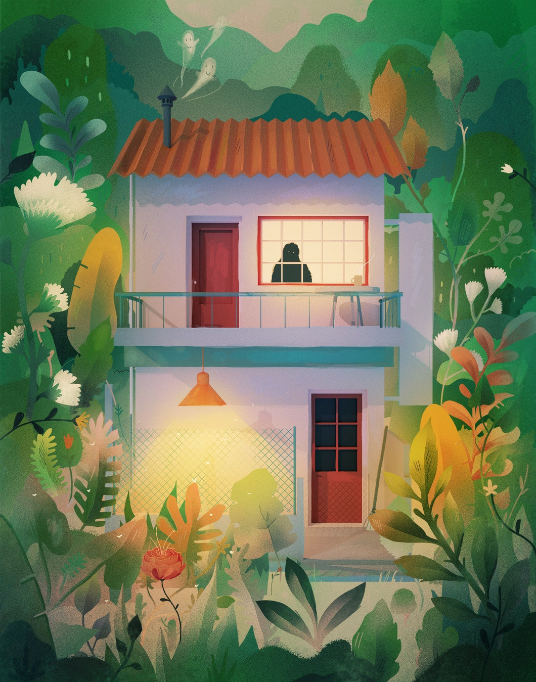 MAISON DANS LA JUNGLE - ILLUSTRATION