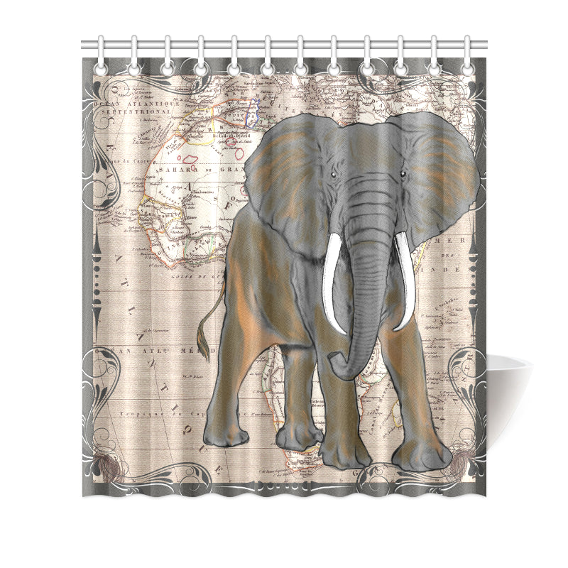 Load Image Into Gallery Viewer African Elephant Shower Curtain