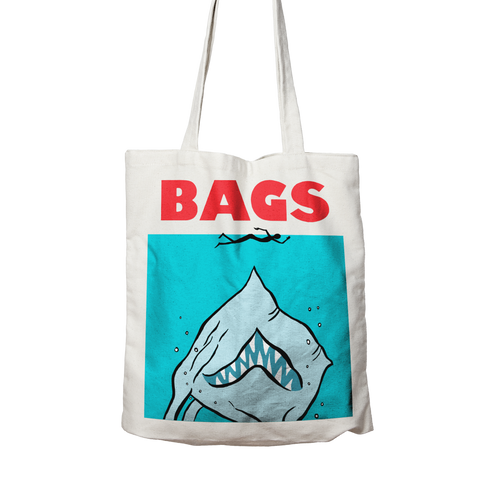 BAGS - Two sided, 100% organic cotton tote bag.