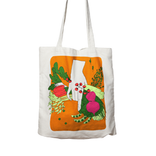 Load image into Gallery viewer, VEG - Two sided, 100% organic cotton tote bag.