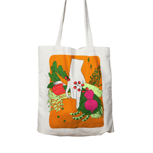 VEG - Two sided, 100% organic cotton tote bag.