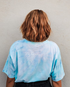 Fuck Fast Fashion - Tie Dye - Bright Sky