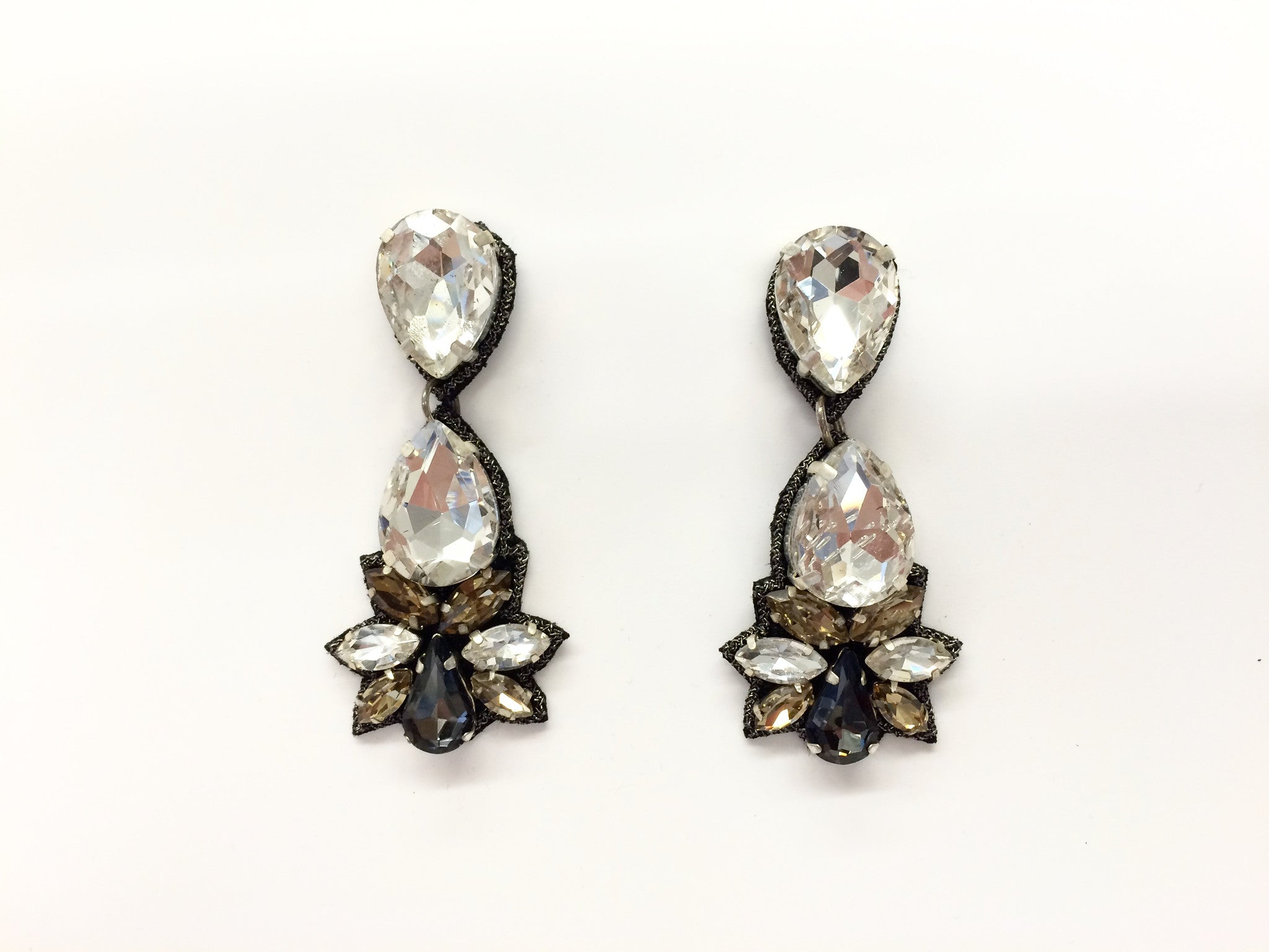 Drop Earring with Crystals